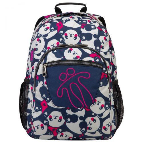 Mochila escolar, marca totto, modelo acuareles, estampado osos panda